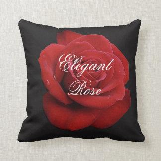 Elegant Red Rose Throw Pillow