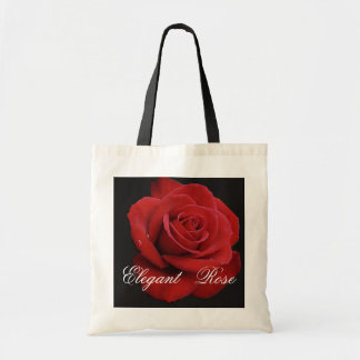 Elegant Red Rose Tote