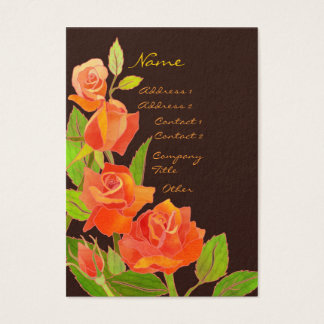 Elegant Red Roses Cosmetologist Business Cards