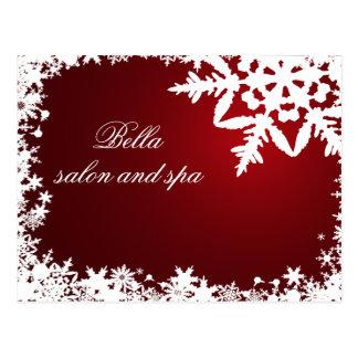 elegant red snowflakes business ThankYou Cards