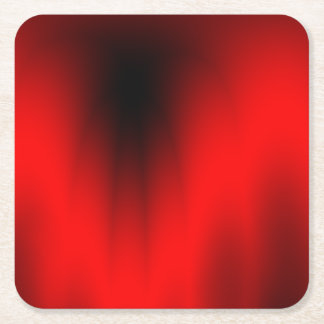 Elegant Red Splash Square Paper Coaster