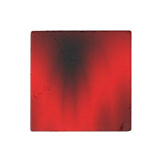 Elegant Red Splash Stone Magnet