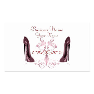 Elegant Red Stiletto Shoes Art Business Card