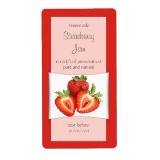 Elegant Red Strawberry Label