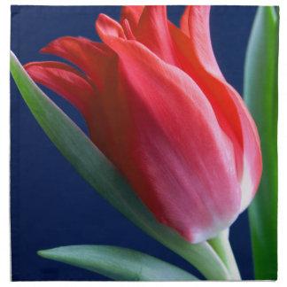 Elegant red tulip napkin