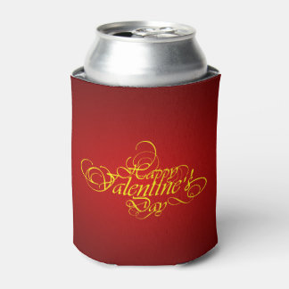 Elegant Red Valentine Can Cooler