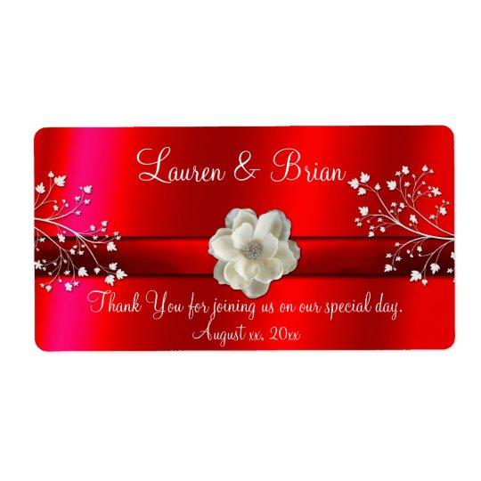 Elegant Red Wedding/Sweet Sixteen Label Shipping Label