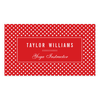 Elegant, Red & White Polka Dots Pack Of Standard Business Cards