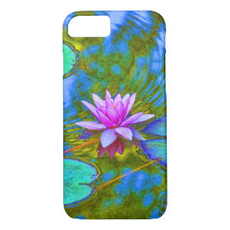 Elegant Reflections Pink Water Lily in Pond iPhone 7 Case