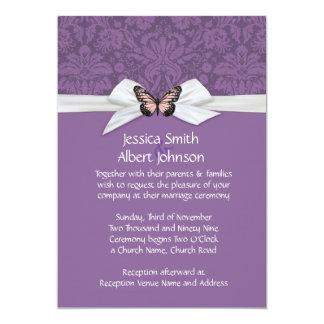 "Elegant Regal Tudor Damask Wedding Invite 5"" X 7"" Invitation Card"