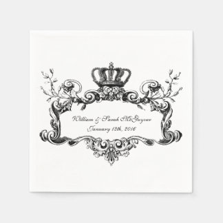 Elegant Regal Wedding Paper  Napkins Paper Napkins