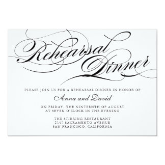 Elegant Rehearsal Dinner Invitation