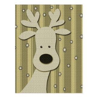 Elegant reindeer postcard