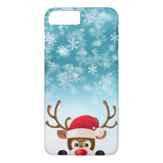 Elegant Reindeer with Santa Hat | Phone Case