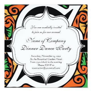Elegant Renaissance or Medieval Monogram Letter S 13 Cm X 13 Cm Square Invitation Card