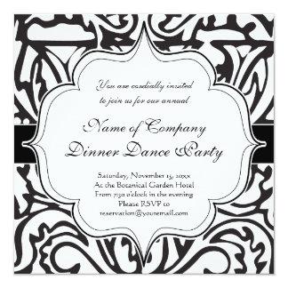 "Elegant Renaissance or Medieval Monogram Letter W 5.25"" Square Invitation Card"