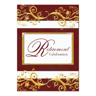 Elegant Retirement Party Invitation