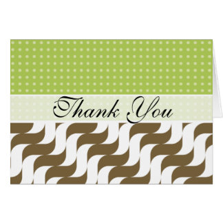 Elegant Retro Brown Waves Stationery Note Card