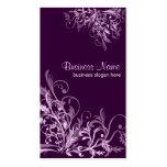 Elegant Retro Lavender Flower Swirls 3 Pack Of Standard Business Cards
