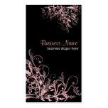 Elegant Retro Pink Flower Swirls 2 Pack Of Standard Business Cards