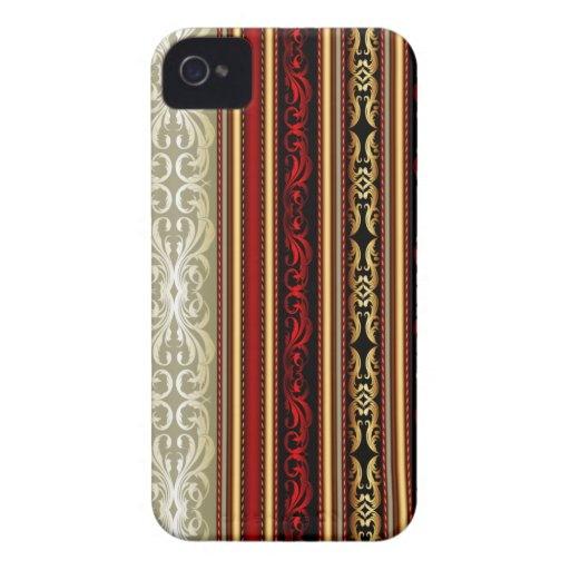 Elegant Retro Stripe Lace Blackberry Bold Case