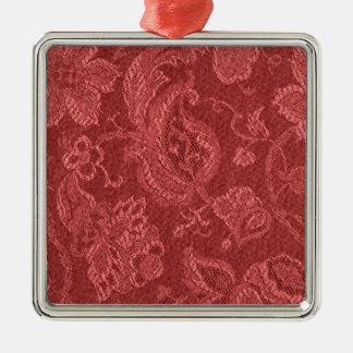 Elegant Retro Vintage Cranberry Square Ornament