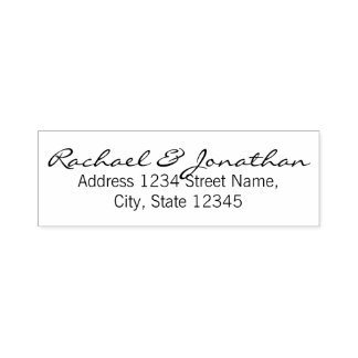 Elegant Return Address Self-inking Stamp