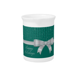 Elegant ribbon and stars beverage pitcher