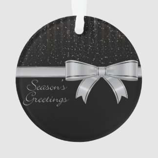 Elegant ribbon and stars ornament