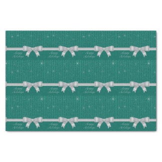 Elegant ribbon and stars tissue paper
