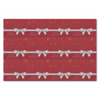 Elegant ribbon and stars tissue paper