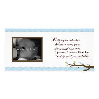 Elegant Ribbon Announcement Photo Greeting Card