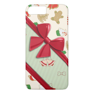 Elegant Ribbons and Christmas Bells iPhone 7 Plus Case