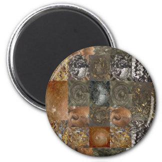 Elegant Rich Prints Rare Earth Crystals n Mosiac Magnets