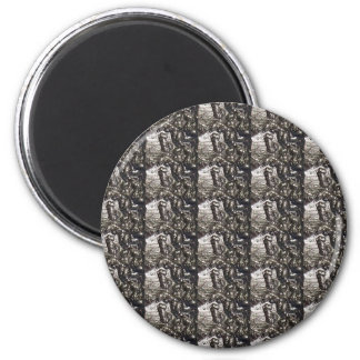 Elegant Rich Prints Rare Earth Crystals n Mosiac Fridge Magnet