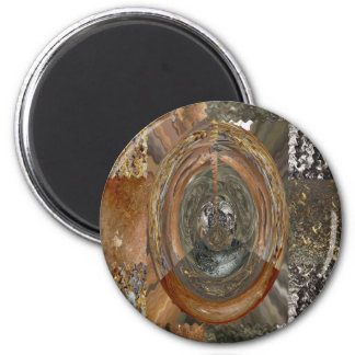 Elegant Rich Prints Rare Earth Crystals n Mosiac Refrigerator Magnets