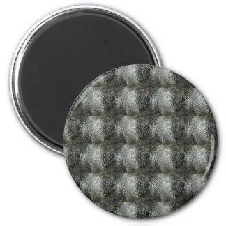 Elegant Rich Prints Rare Earth Crystals n Mosiac 6 Cm Round Magnet