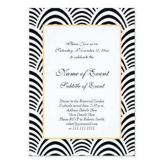 Elegant Roaring 20s Black and White Modern Jazz Card