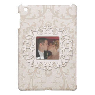 Elegant Romance Bridal Scroll Personalized  Photo iPad Mini Covers