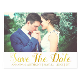 Elegant romantic photo and cute font postcard