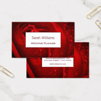 Elegant Romantic Red Rose Business Card