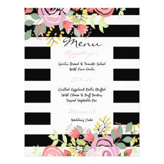 Elegant romantic wedding menu 21.5 cm x 28 cm flyer