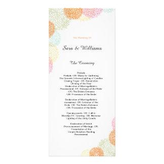 Elegant Romantic Wedding Program Rack Card