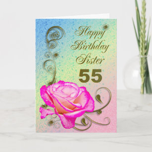 Rose 55th Gifts Birthday Cards