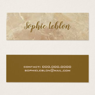 elegant rose-beige marble mini business card