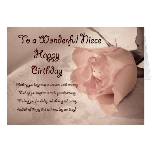 Elegant rose birthday card for niece | Zazzle Will You Be My Bridesmaid Quotes