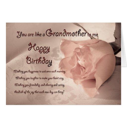 Elegant rose birthday card - like a grandmother