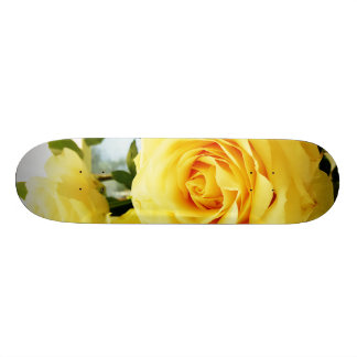 Elegant rose bloom custom skateboard