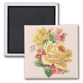 Elegant Rose Bouquet Magnets