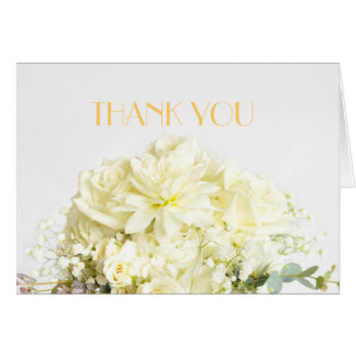 Elegant Rose Bouquet Thank you Greeting Cards